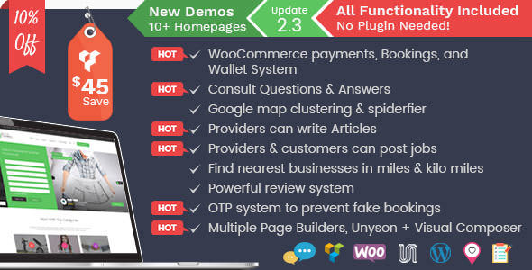 Listingo v2.3 — Service Providers, Business Finder and Directory