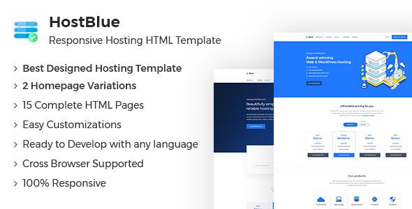 HostBlue v1.0 — Responsive Hosting & Technology Site Template