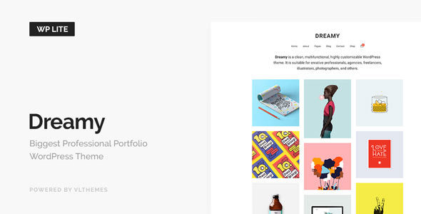 Dreamy Lite v1.1 — Responsive Portfolio WordPress Theme