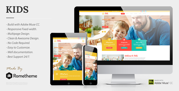 KIDS — Kindergarten and Child Care Muse Templates