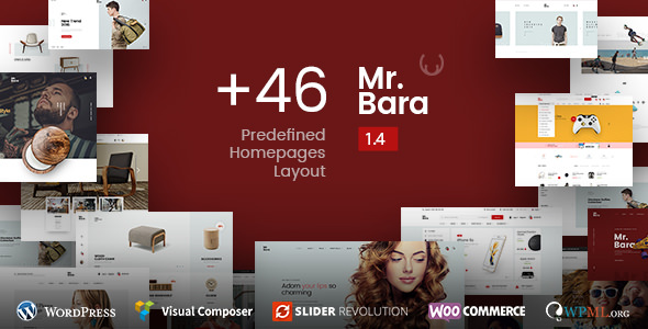 Mr.Bara v1.5.6 — Responsive Multi-Purpose eCommerce Theme