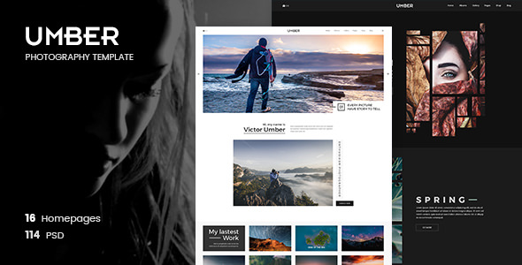Umber Photography v1.0 — Photography PSD Template