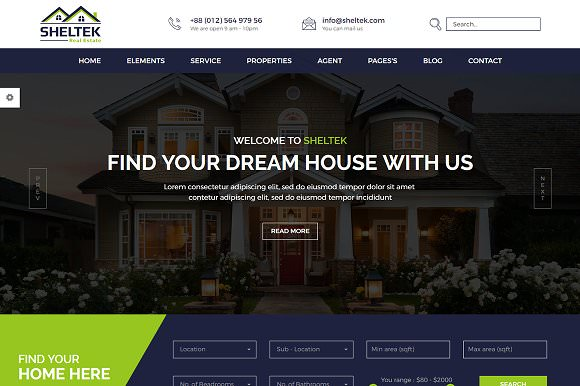 Sheltek — Real Estate HTML Template