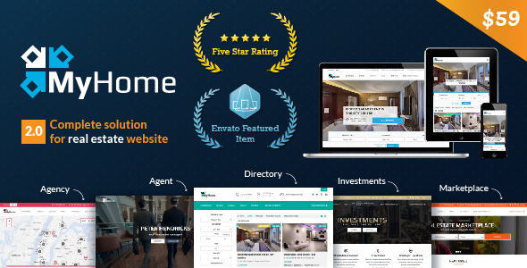 MyHome v2.1.10 — Real Estate WordPress Theme