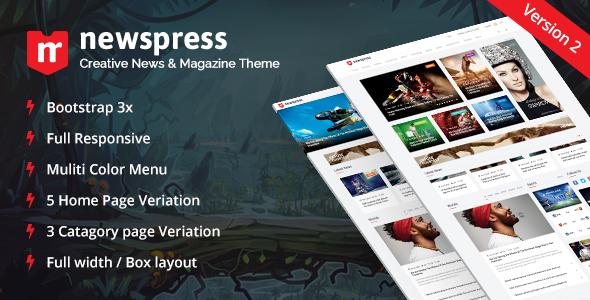 NewsPress v2.1 — Bootstrap News / Magazine Template