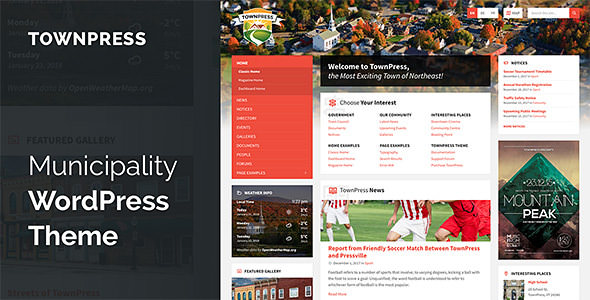 TownPress v2.1.1 — Municipality WordPress Theme