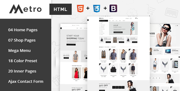 Metro — E-Commerce HTML5 Template