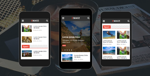 Emagz — News & Magazine Mobile Template
