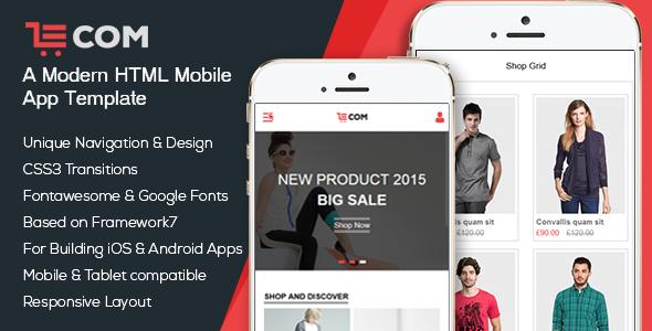 eCom — Mobile & App HTML Template
