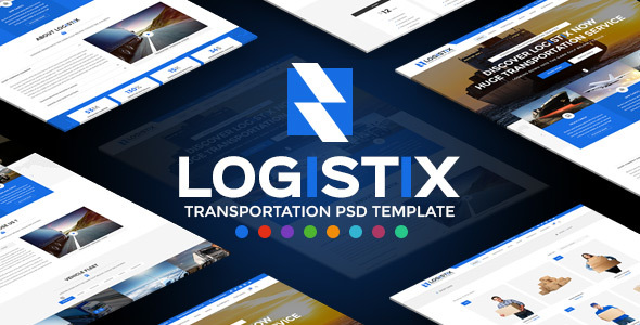 Logistix — Transportation PSD Template