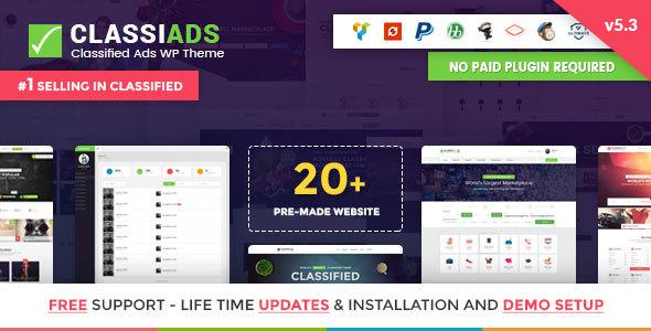 Classiads v5.3 — Classified Ads WordPress Theme