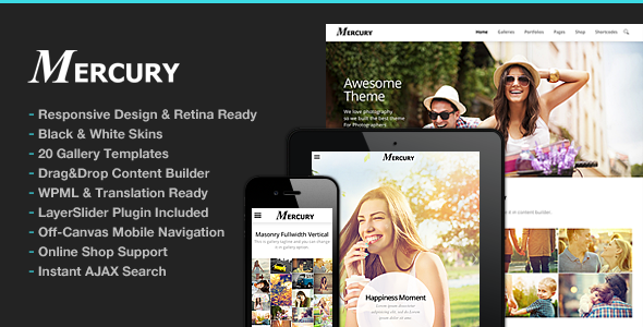 Mercury for Photography v2.0 — Photography WordPress