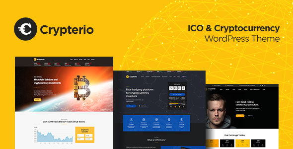 Crypterio v1.4 — Bitcoin, ICO and Cryptocurrency Theme