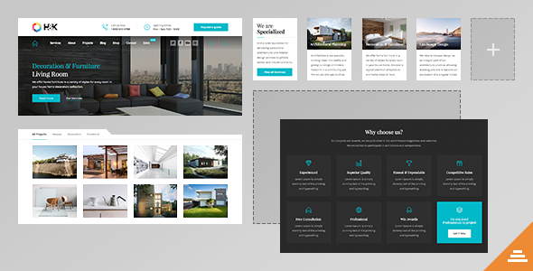 Hnk v1.0.9 — Business and Architecture WordPress Theme