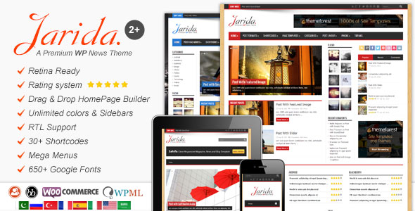 Jarida v2.4.6 — Responsive WordPress News, Magazine, Blog