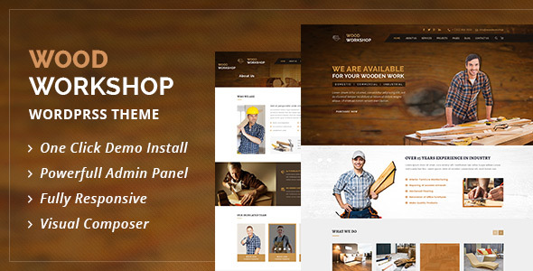 Wood Workshop v1.8 — Carpenter and Craftsman WordPress theme
