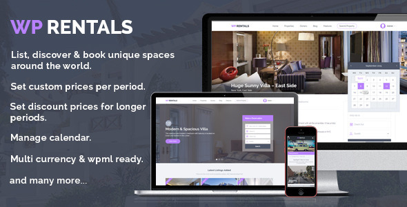 WP Rentals v1.20.5.2 — Booking Accommodation WordPress Theme