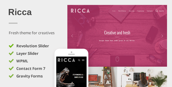 Ricca v1.1.6 — A Fresh Responsive Theme For Creatives