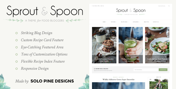 Sprout & Spoon v1.1 — A WordPress Theme for Food Bloggers