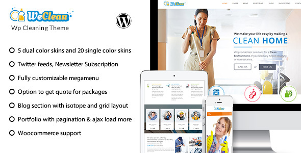 We Clean v1.8 — Cleaning Business WordPress Theme