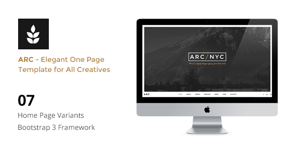 ARC v2.0 — Creative One Page HTML5 Template