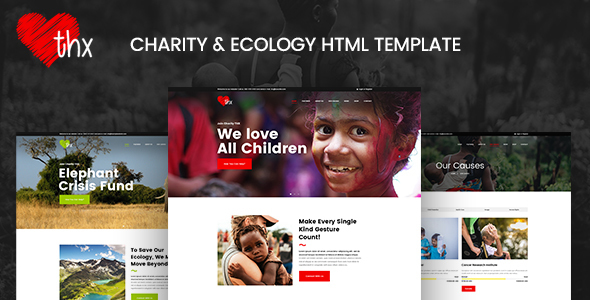 THX — Charity & Ecology HTML Template