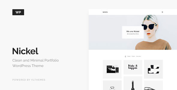 Nickel v1.0 — Minimalist Portfolio WordPress Theme