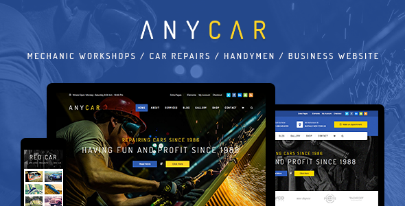 AnyCar v1.1.9 — Automotive, Car Dealer WordPress Theme