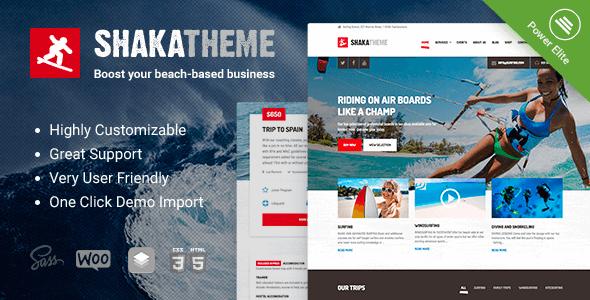 Shaka v1.11.0 — A beach business WordPress theme
