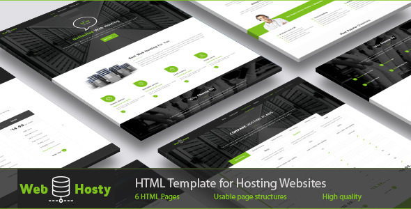 WebHosty — Hosting HTML Template