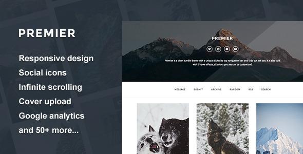 Premier — A Responsive Tumblr Theme