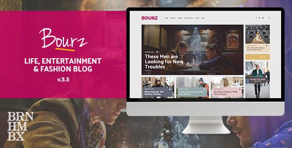 Bourz v3.3 — Life, Entertainment & Fashion Blog Theme