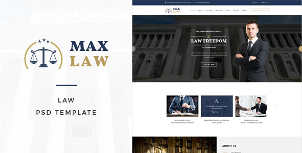 Max Law — Lawyer & Attorney HTML Template