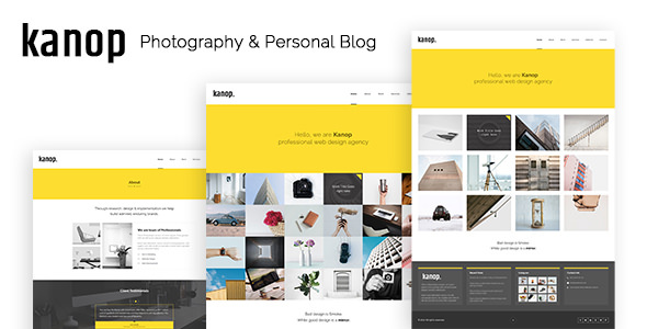 Kanop — Photography & Personal Blog HTML Template