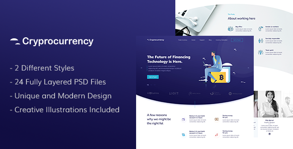 CryptoCurrency — PSD Template