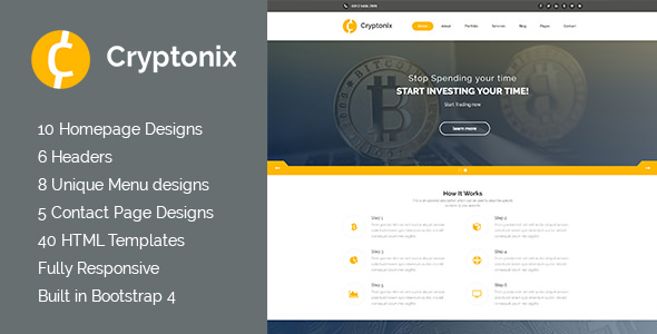 Cryptonix — Cryptocurrency & Mining HTML Template