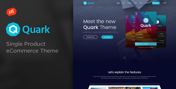 Quark v2.5 — Single Product eCommerce Theme