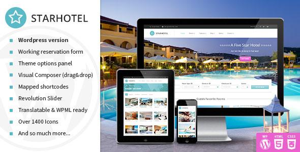 Starhotel v2.0.8 — Responsive Hotel WordPress Theme