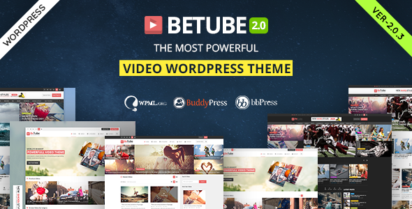 Betube v2.0.3 — Video WordPress Theme