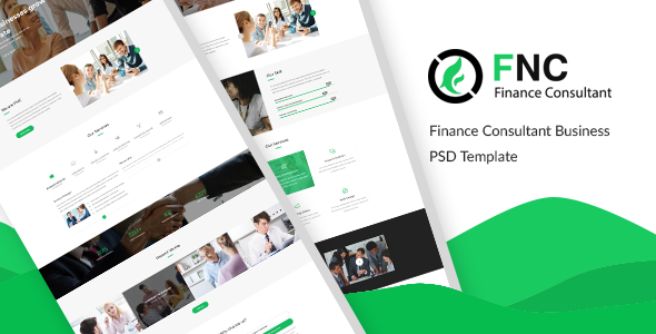 FNC — Finance & Consulting, Accounting PSD Template