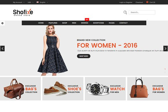 Shofixe — eCommerce Fashion Template