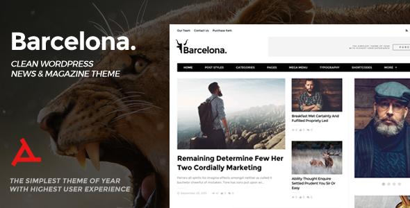 Barcelona v1.5.0 — Clean News & Magazine WordPress Theme