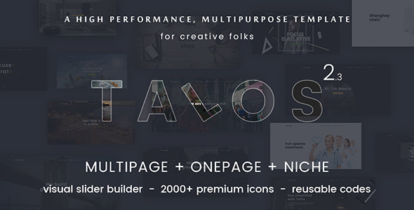 Talos v2.3 — Creative Multipurpose HTML Template