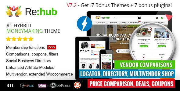 REHub v7.2 — Price Comparison, Business Community