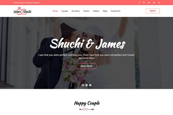 James & Shuchi Wedding HTML Template