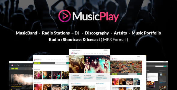 MusicPlay v9.2.0 — Music & DJ Responsive WordPress Theme