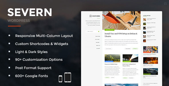 Severn v4.2.2 — Responsive WordPress Blog Theme
