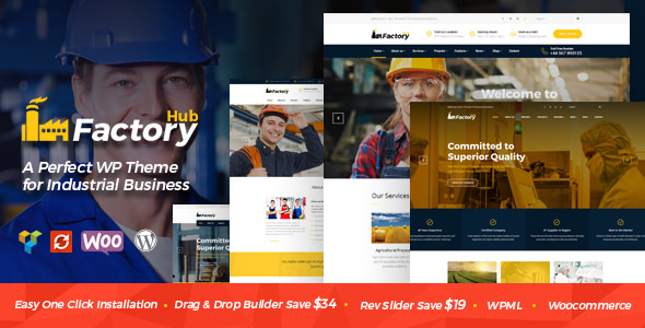 Factory HUB v1.1.1 — Industry / Factory / Engineering Theme