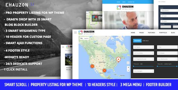 Ehauzon v1.0 — Property Listing for WordPress Theme