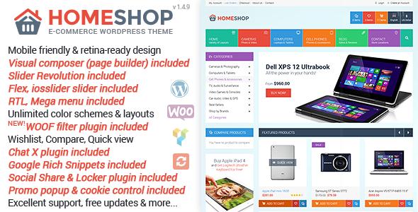Home Shop v1.4.9 — WooCommerce Theme